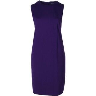 Lauren Ralph Lauren Womens Plus Wear to Work Dress Knit Solid