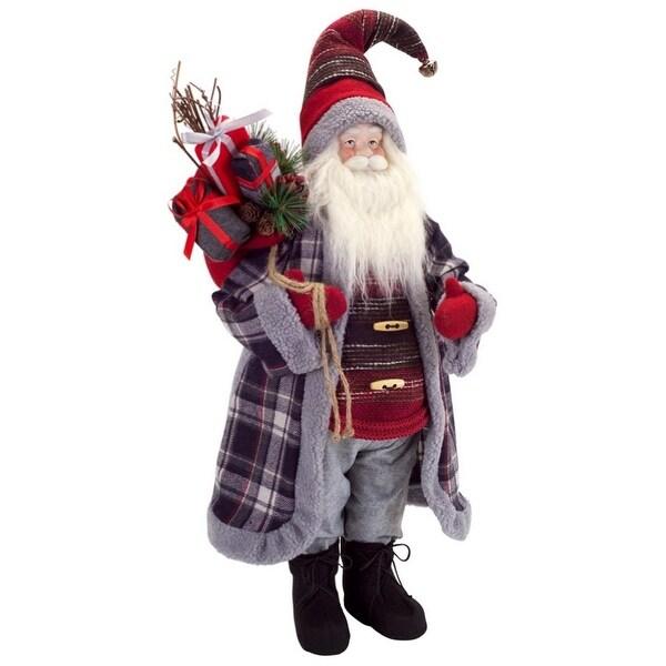 Christmas Decorations Christmas Figurines Pack Of 2 Metallic Woodland Santa Center Piece 28