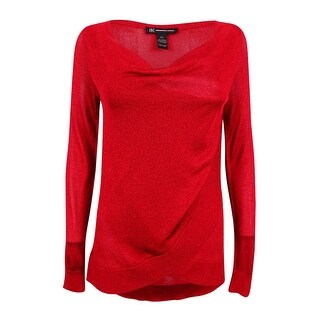 INC International Concepts Women's Draped Metallic Sweater (5 options available)