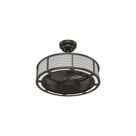 """Hunter 22"""" Tunley Ceiling Fan with LED Light and Wall Control"""