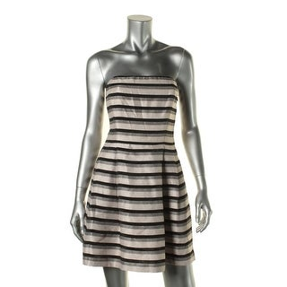 Rachel Rachel Roy Womens Striped Strapless Cocktail Dress