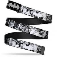 Batman Reverse Brushed Silver Cam Batman Poses & Bat Shield Sketch Web Belt