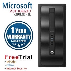 Refurbished HP EliteDesk 800G1 Tower Intel Core I5 4570 3.2G 8G DDR3 1TB DVD WIN 7 PRO 64 1 Year Warranty