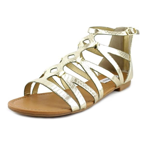 Steve Madden Caitir Women Open Toe Synthetic Gold Sandals