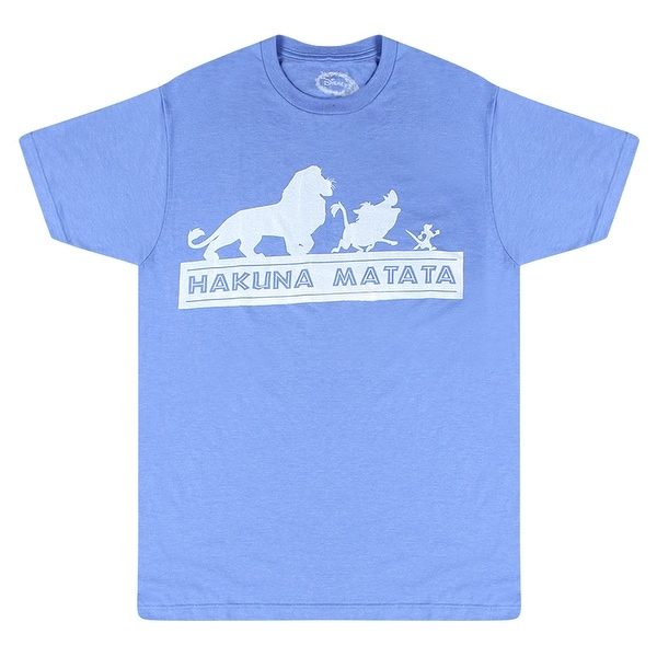 125258f19ab Shop Disney The Lion King Mufasa Pumba Timon Graphic Hakuna Matata Quote  Blue T-shirt - Free Shipping On Orders Over $45 - Overstock - 17750213