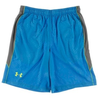 Under Armour Mens Printed Loose Fit Athletic Shorts - L