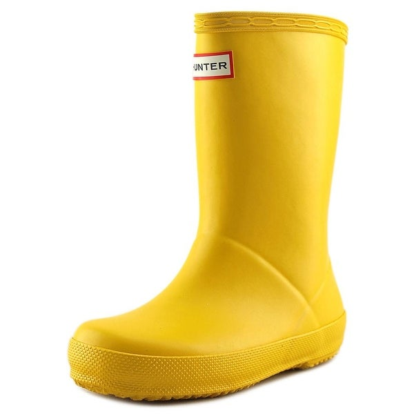 Hunter Kids First Classic Youth Round Toe Synthetic Yellow Rain Boot