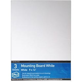 "9""X12"" - Crescent White Mounting Board Value Pack 3/Pkg"