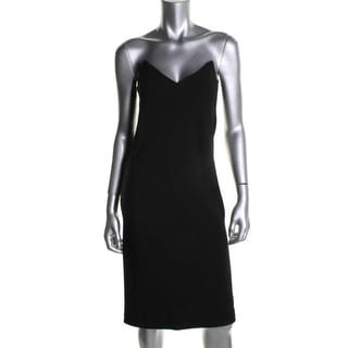 DKNY Womens Cocktail Dress Illusion Straps V-Neck - 6