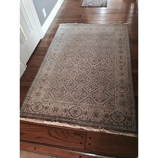 Momeni Palace Taupe Hand-Knotted Wool Rug (3'9 X 5'9)