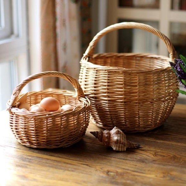 RusticReach Willow Basket with Handle