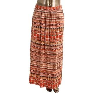 Nic + Zoe Womens Pull On Side Slits Maxi Skirt