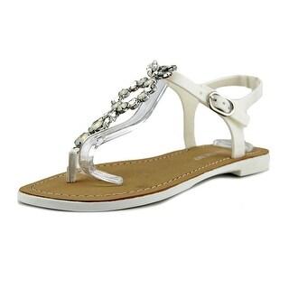 Ivanka Trump Adoren Women Open Toe Synthetic White Thong Sandal
