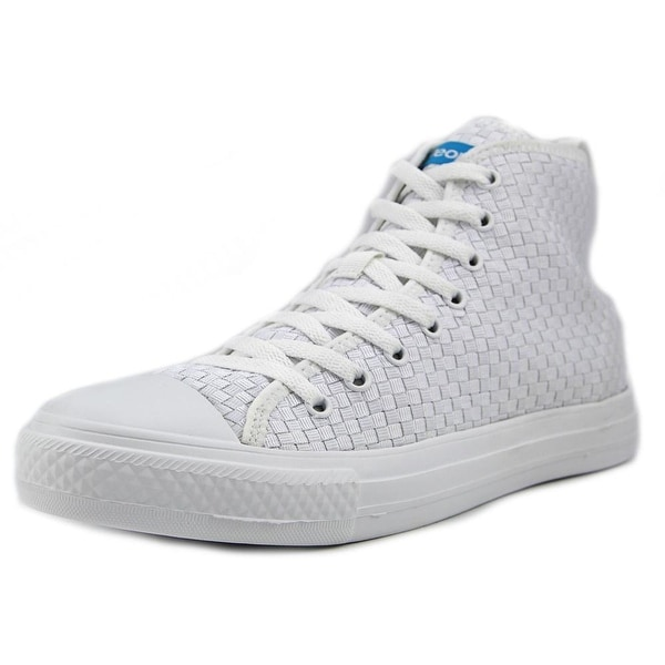 People Footwear The Phillips High Men Round Toe Synthetic White Sneakers