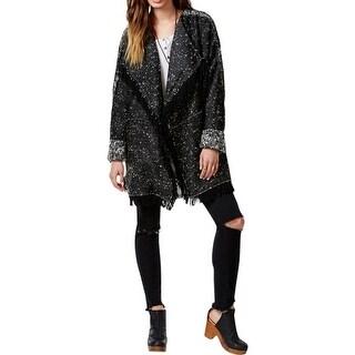 Free People Womens Basic Jacket Tweed Drapey