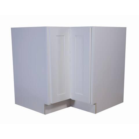 "Design House 561431 Brookings 36"" x 34-1/2"" Kitchen Diagonal Corner Base Cabinet with Lazy Susan"