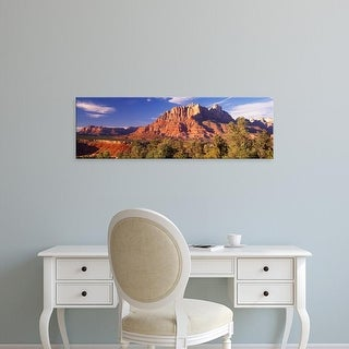 Easy Art Prints Panoramic Image 'Forest, Escalante Canyon, Zion National Park, Washington County, Utah' Canvas Art