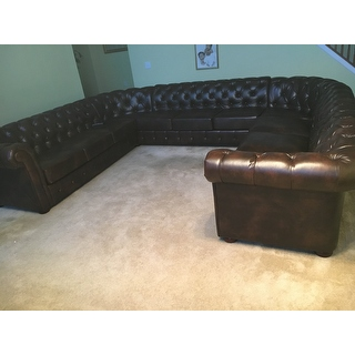 Knightsbridge Tufted Scroll Arm Chesterfield 11 Seat U