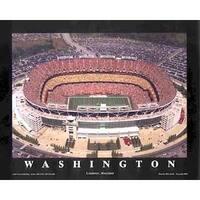''FedEx Field - Landover, Maryland (Washington Redskins)'' by Mike Smith Stadiums Art Print (22 x 28 in.)