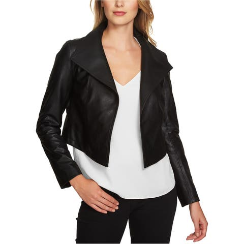 1.State Womens Cropped Motorcycle Jacket