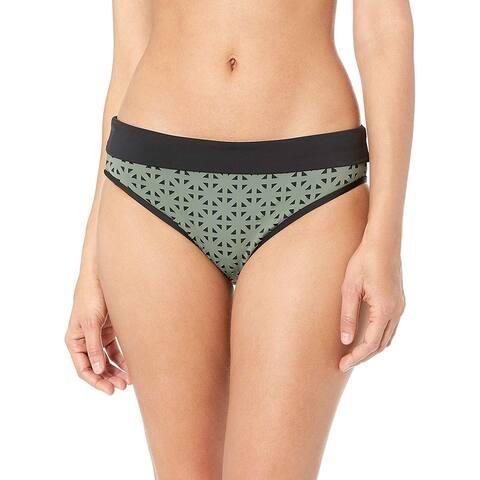 Skye Women's Mid Waist Full Coverage Bikini Bottom Swimsuit,, Green, Size Small