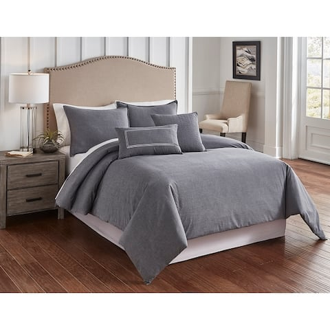 Riverbrook Home Crosswoven 6 Piece Duvet Set (includes insert)
