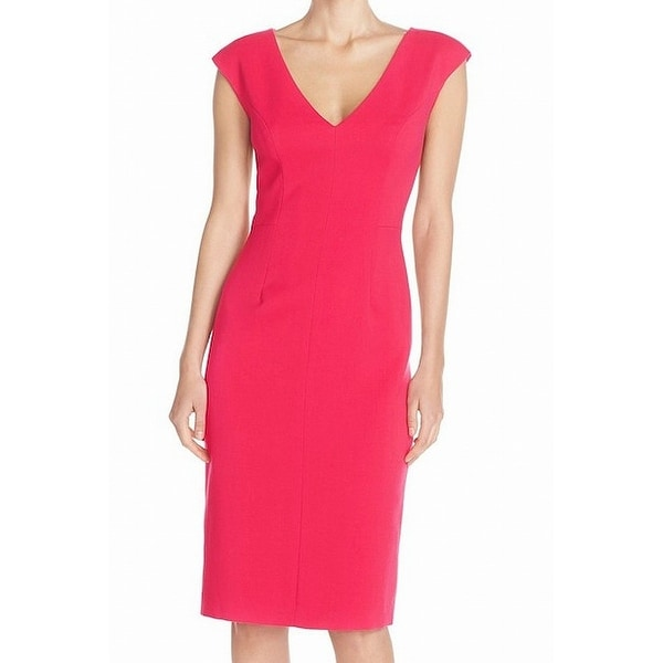 c11421c0 Shop Eliza J NEW Hot Pink Womens Size 16 V-Neck Cap Sleeve Shift Dress -  Free Shipping Today - Overstock - 21594032