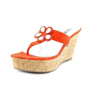 Carlos by Carlos Santana Sadie Women Open Toe Synthetic Wedge Sandal
