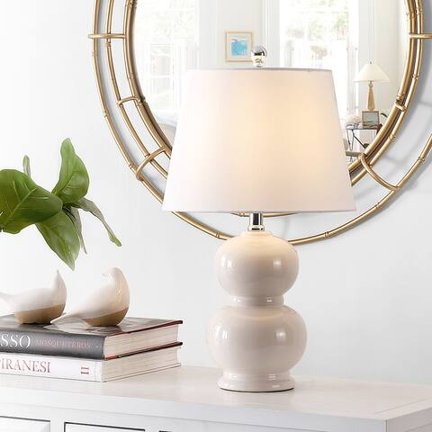 "SAFAVIEH Lighting 22-inch Everlee Glass Table Lamp - 12"" x 12"" x 22"""