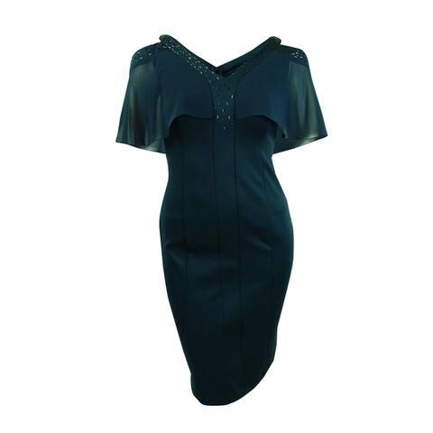 bfe6b8be7f6 SL Fashions Women s Cold-Shoulder Embellished Sheath Dress