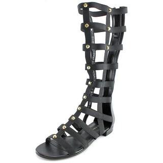 Marc Fisher Lexxi Women Open Toe Synthetic Black Gladiator Sandal