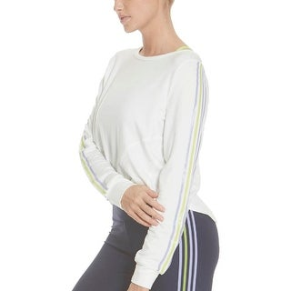 Link to Splendid Women's Striped Open Back Long Sleeve Activewear Crop Top Similar Items in Athletic Clothing