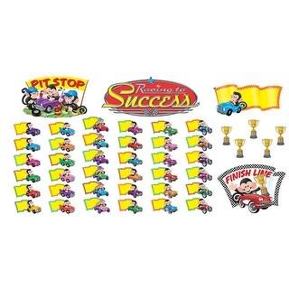 Trend Enterprises Monkey Mischief Racing to Success Bulletin Board Set