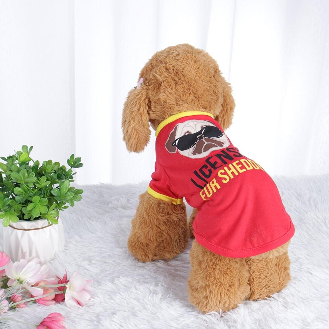 Dog T Shirt Puppy Small Pet Sweatshirt Vest Tops Clothes Apparel Vest Costume (L)