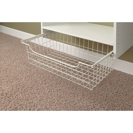 "Easy Track #1312 Closet Wire Basket, 24"" x 12"", White"