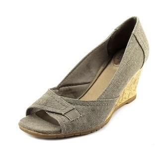 Life Stride Promote Women Open Toe Canvas Wedge Sandal