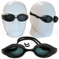 Black UV Nearsighted Prescription Corrective Optical RX Lenses Swimming Goggles