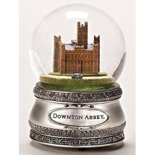 """7"""" Downton Abbey Water Globe Silver Base"""