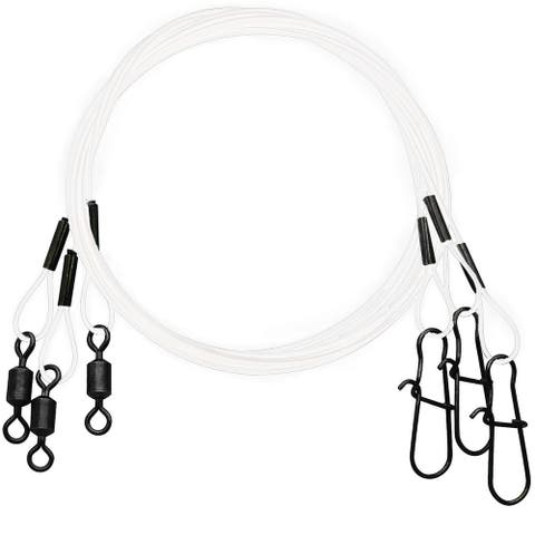 """Eagle Claw Clear/Bright Heavy Duty 18"""" Wire Leaders 3-Pack"""