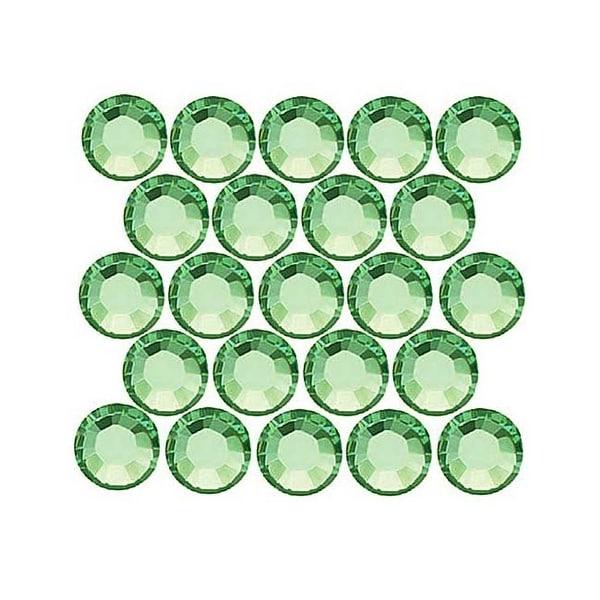 Swarovski Elements Crystal, Round Flatback Rhinestone Hotfix SS20 4.6mm, 50 Pieces, Chrysolite