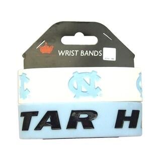 UNC North Carolina Tar Heels Rubber Wrist Band Set