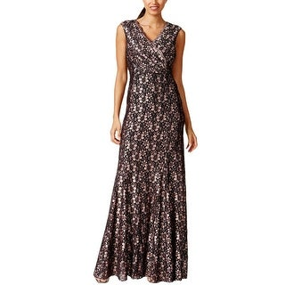 Tahari ASL Womens Cocktail Dress Lace Sequined - 10