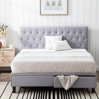Link to Brookside Anna Upholstered Storage Bed with Drawers Similar Items in Bedroom Furniture