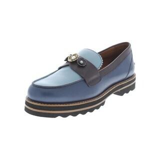 Coach Womens Lenox Loafers Leather Colorblock - 10 medium (b,m)