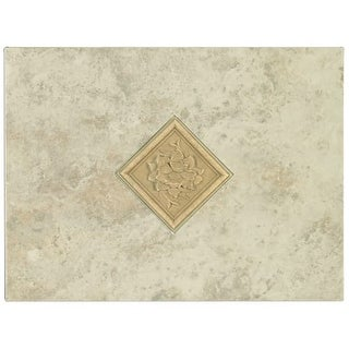 Mohawk Industries 5166 12 Inch Crema Ceramic Tile Decorative Accent