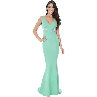 Terani Couture Beaded Illusion Formal Dress