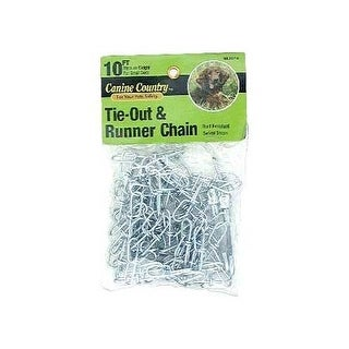 American Leather Medium Weight Dog Tie Out and Runner Chain Silver