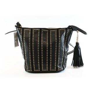 Michael Kors NEW Black Leather Medium Brooklyn Grommet Shoulder Bag