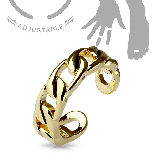 Linked Chain Adjustable Toe Ring/Mid Ring (Sold Ind.)