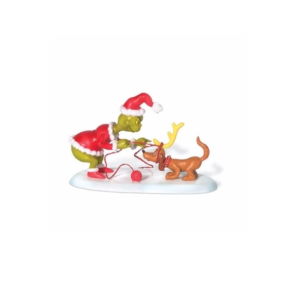 """Department 56 Dr Seuss The Grinch """"All I Need Is A Reindeer"""" Christmas Figurine #804155"""